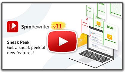 Video: Sneak peek of Spin Rewriter 11
