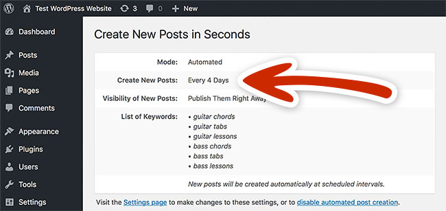 Our plugin automatically finds, spins and publishes relevant articles to your websites