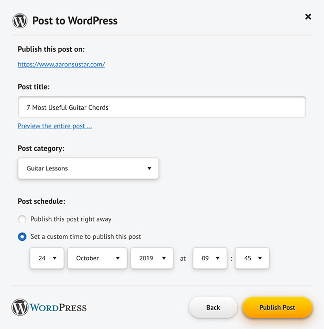 Publish your articles without leaving your Spin Rewriter account